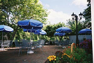 Seasonal Patio dining along the Milwaukee River